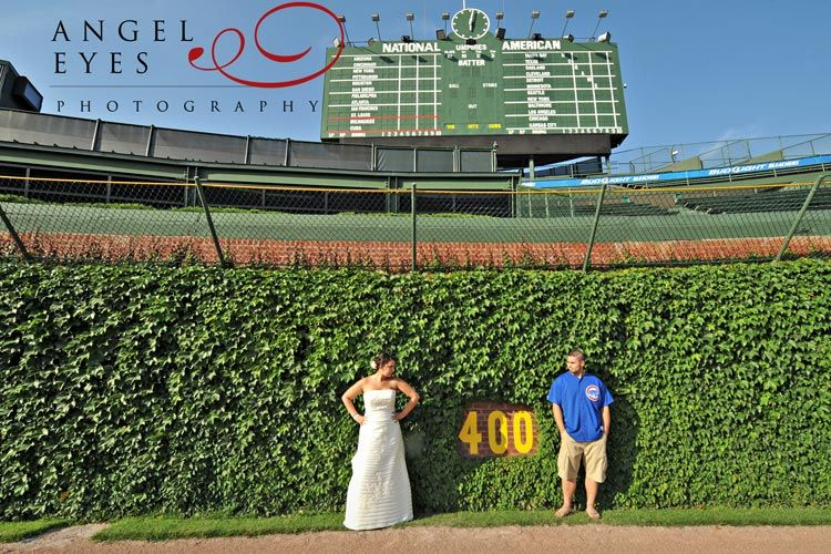 Wrigley Field Chicago Wedding Cubs Angel Eyes Photography