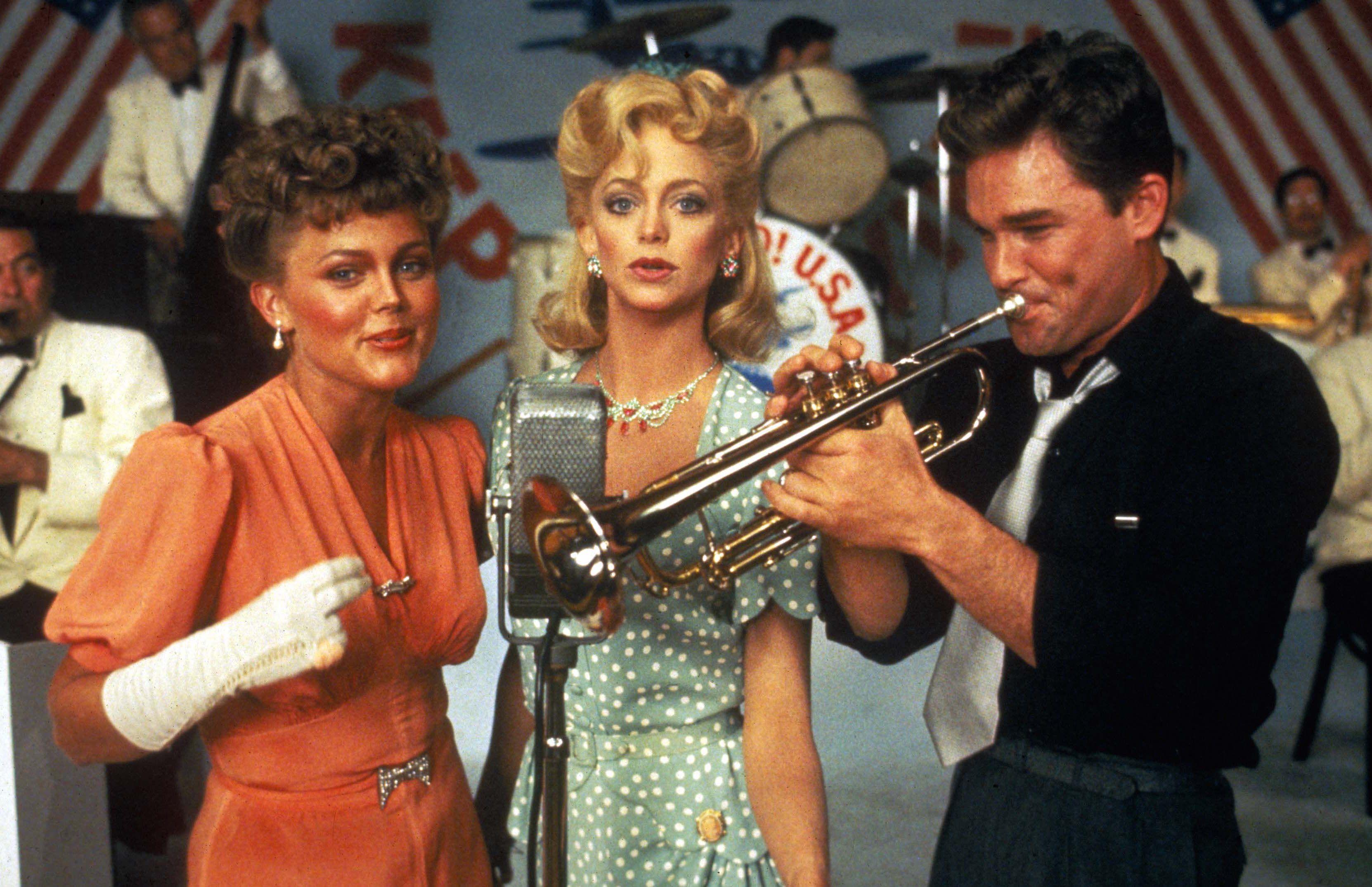 """Swing Shift"" movie still, 1984. L to R Belinda Carlisle"