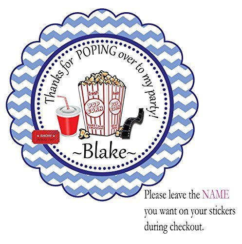 Theater Popcorn Favor Birthday -12 Individual Pre-cut Peel and Stick Party Favor Stickers, Birthday Custom Labels Treat Favor Round Tags BeautyAndBrainsGirls http://www.amazon.com/dp/B013H4AC8K/ref=cm_sw_r_pi_dp_6u-8vb1MRFDRT