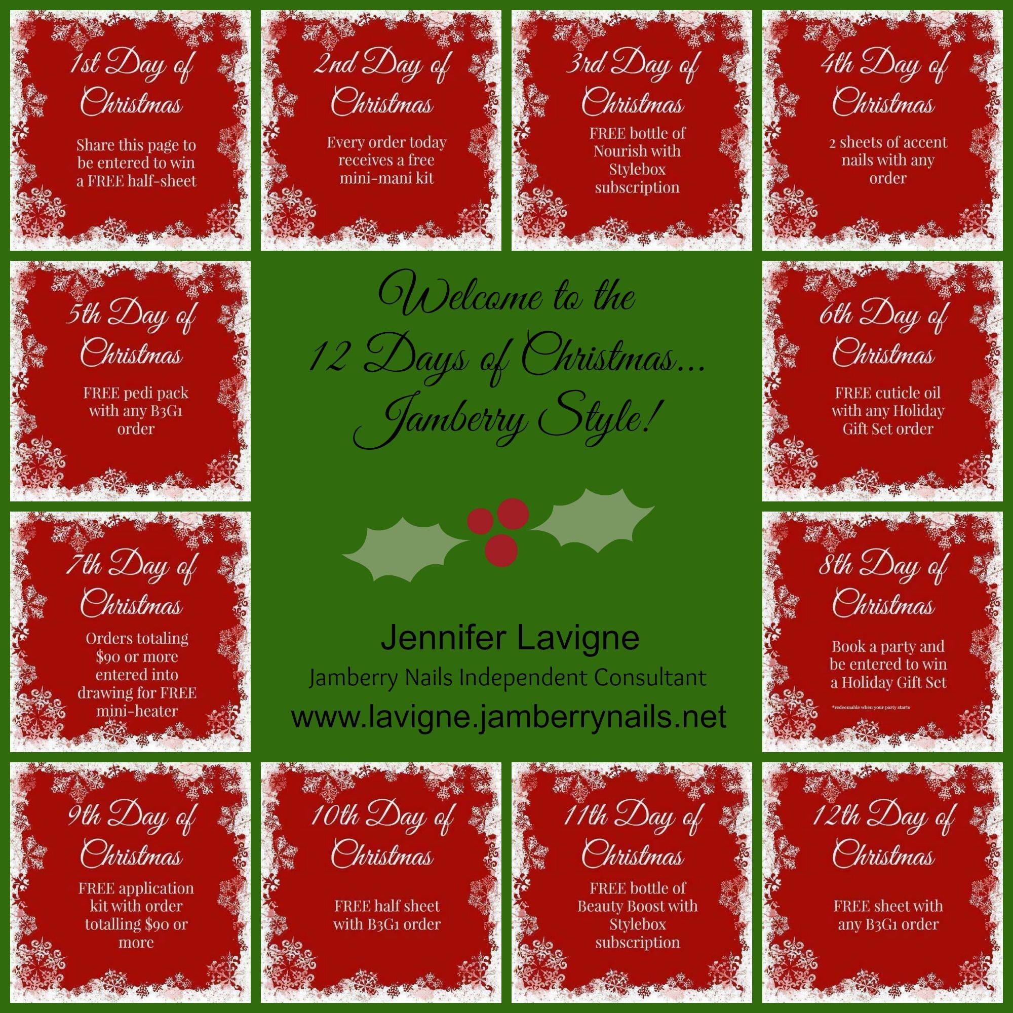 Check out my Jamberry's 12 Days of Christmas Contact me for ...
