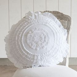 Rachel Ashwell Shabby Chic Pillow Cases : Rachel Ashwell Shabby Chic Couture White Petticoat Round Pillow Home is where the Heart is ...