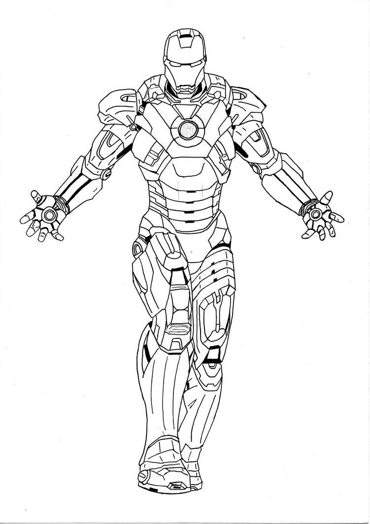 how to draw iron man mark 6
