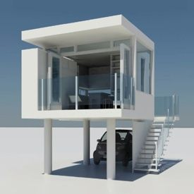 compact house modern beach vacation spot tiny houses and