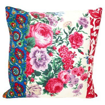 Check out this item at One Kings Lane! Floral Patchwork Pillow