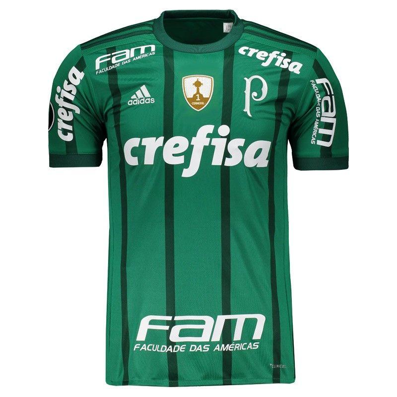 2f688e02ff5c3 Camisa Adidas Palmeiras I 2017 Libertadores Somente na FutFanatics você  compra agora Camisa Adidas Palmeiras I
