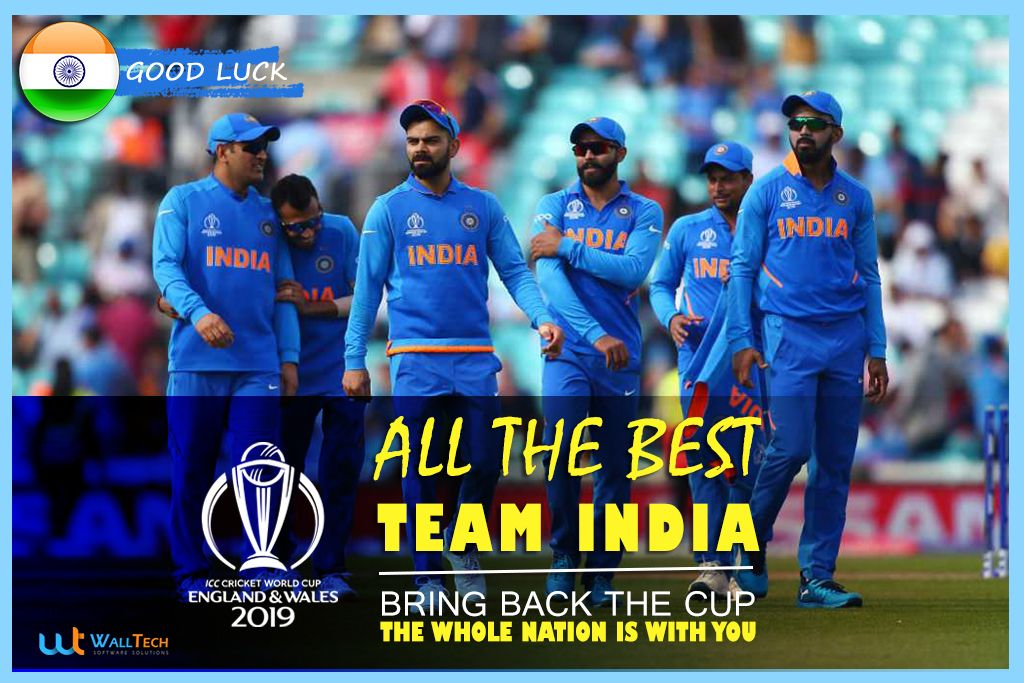 Indian cricket team starts there world cup 2019 match
