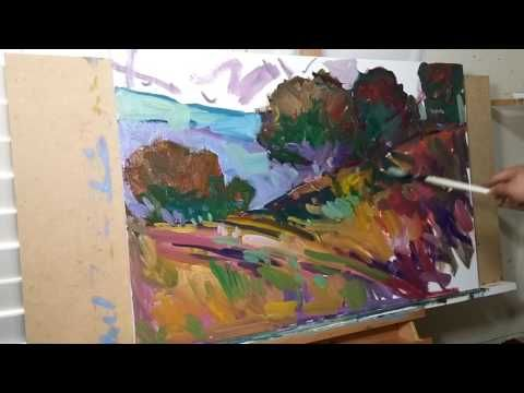 Full Impressionist Painting Technique Step By Step Oil Painting Tutorial Paint Landscape Sakharov Youtube Painting Tutorial Oil Painting Tutorial Painting