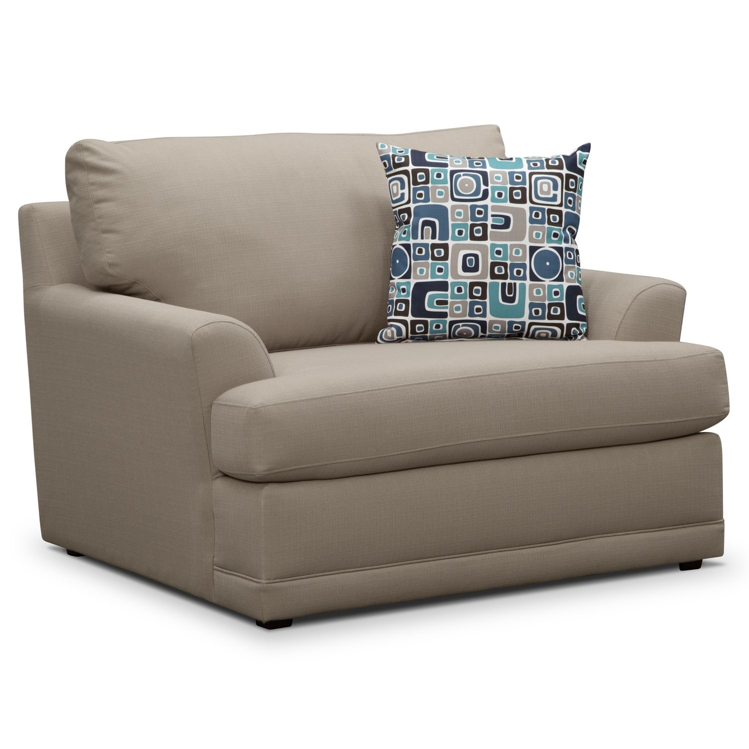 Living Room Furniture Kismet II Chair and a Half Value