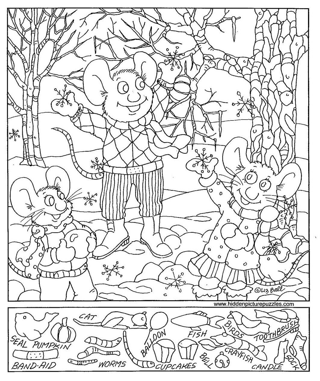 Worksheets Hidden Pictures Worksheets hidden pictures page print your free at allkidsnetwork com
