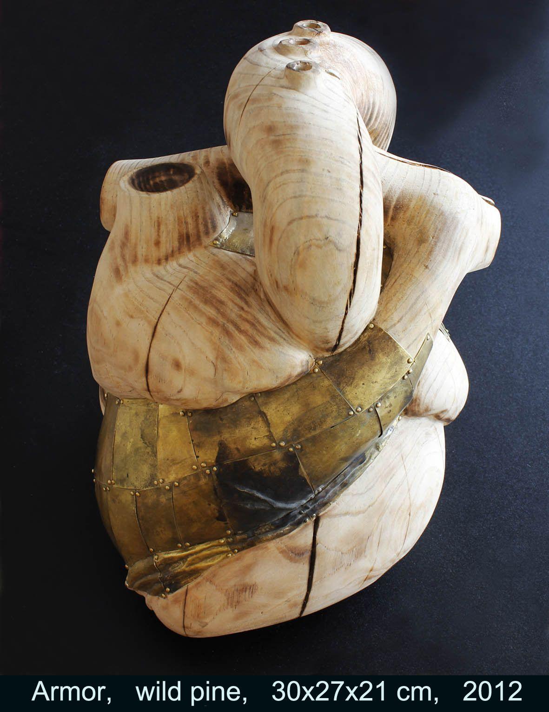 Beatriz Cunha   'Armour'  wood/brass