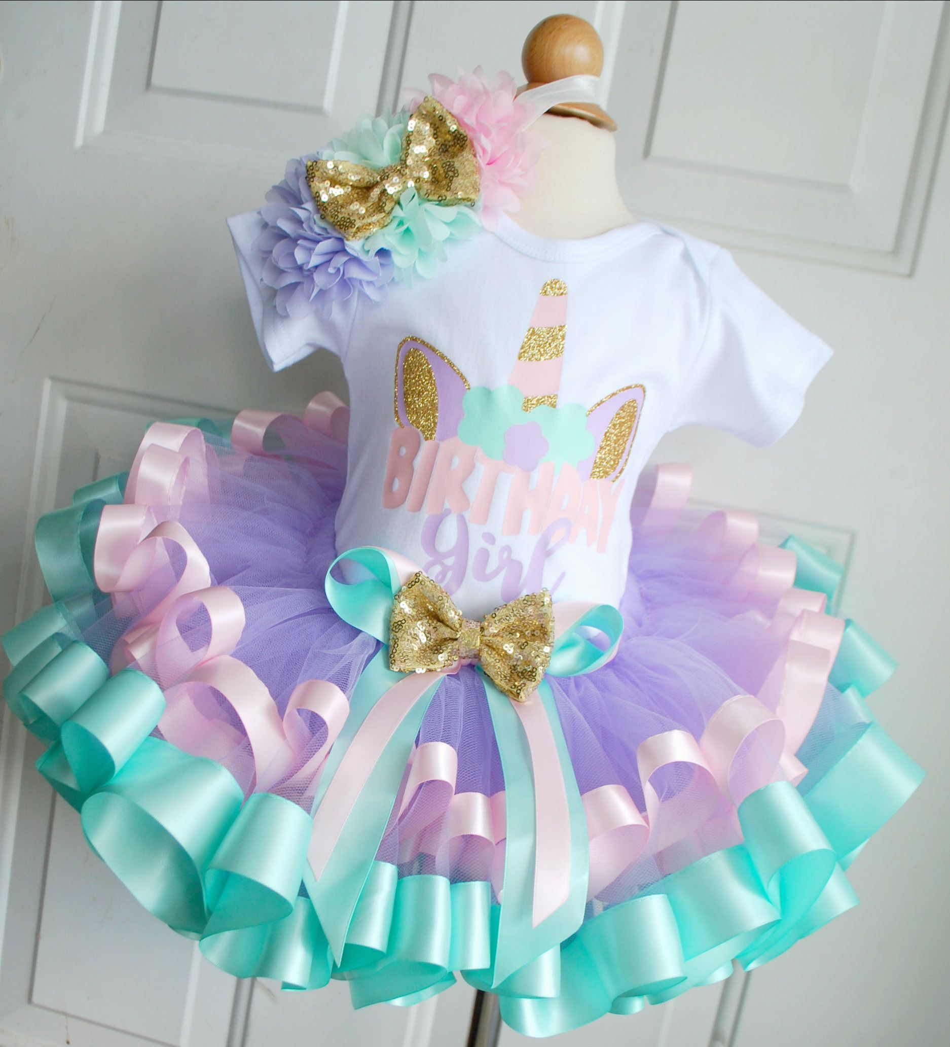 Rainy Birthday Outfit: Unicorn Birthday Tutu Outfit