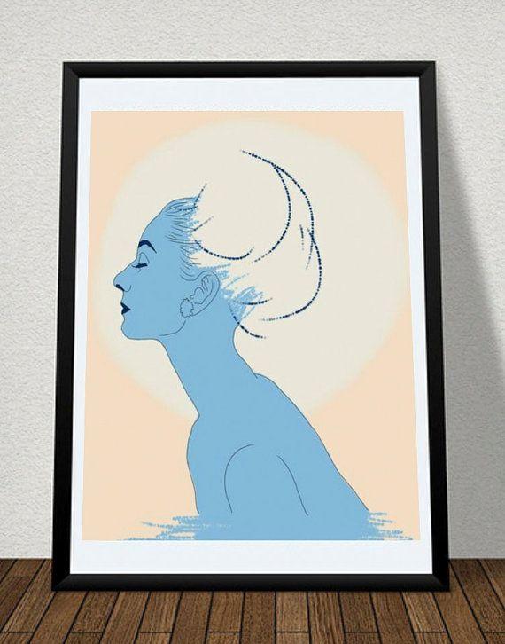 Audrey Hepburn Original Poster Illustration by EstefAzevedo, $40.00