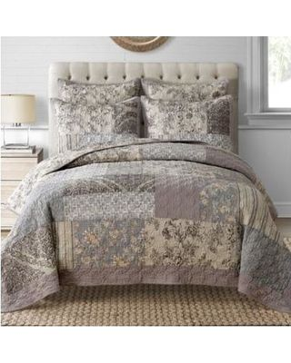 Davis Full/queen Quilt In Taupe Taupe Multi from Bed Bath