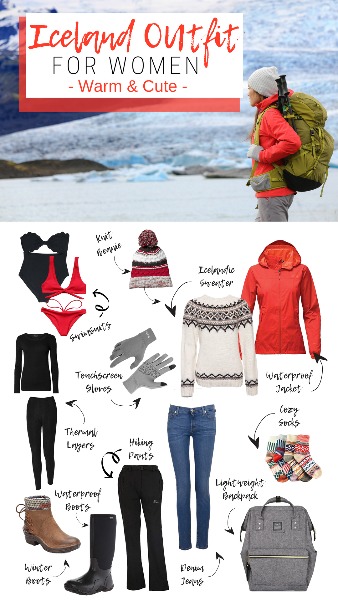 Packing List for Winter: Women's Edition Iceland outfit for women. It's possible to look cute while still staying warm. PIN and shop these cute outfit ideas! //Iceland outfit for women. It's possible to look cute while still staying warm. PIN and shop these cute outfit ideas! //