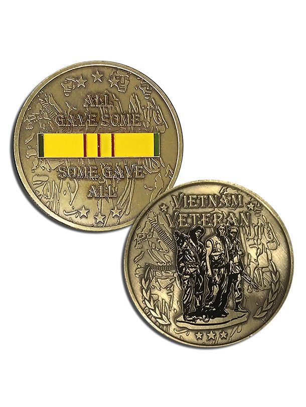 Challenge coins for veterans of Vietnam war  Get one for you