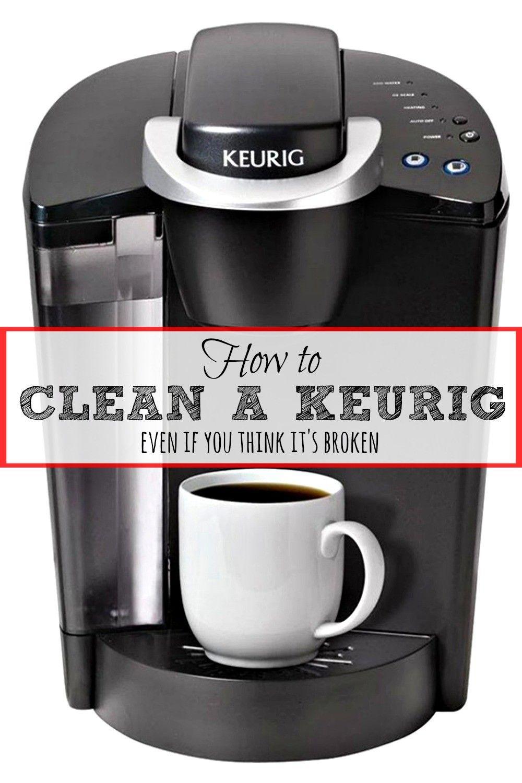 how to clean keurig filter