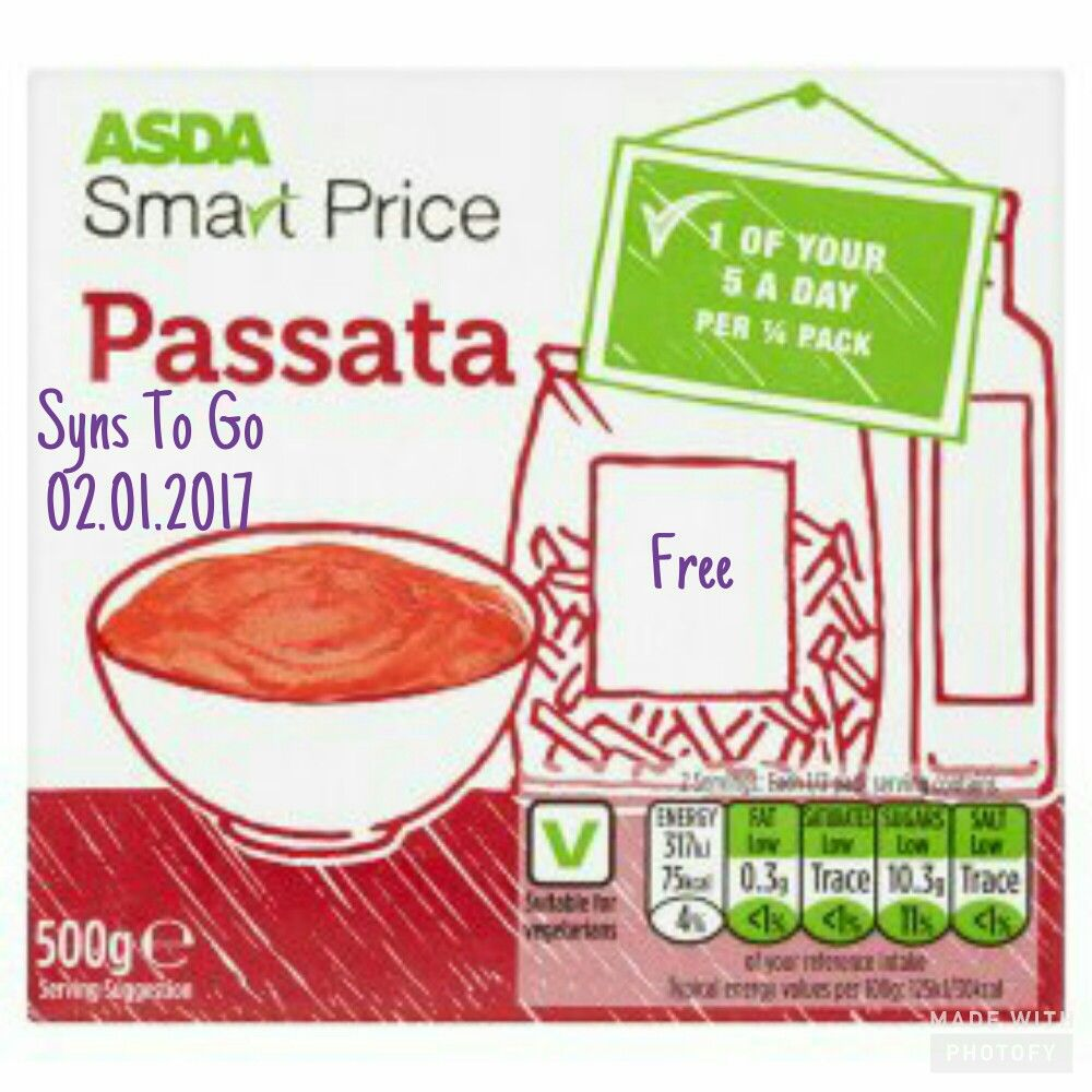 How Many Syns In Asda Smart Rice Passata Tomato Sauce Use Similar
