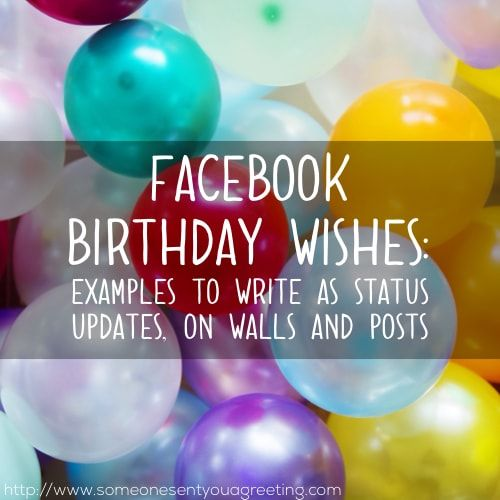 Facebook Birthday Wishes Examples to Write as Status
