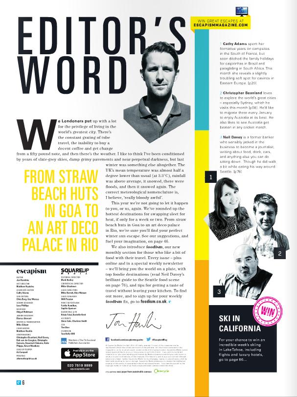 Magazines Designer: Escapism Magazine, Layout.