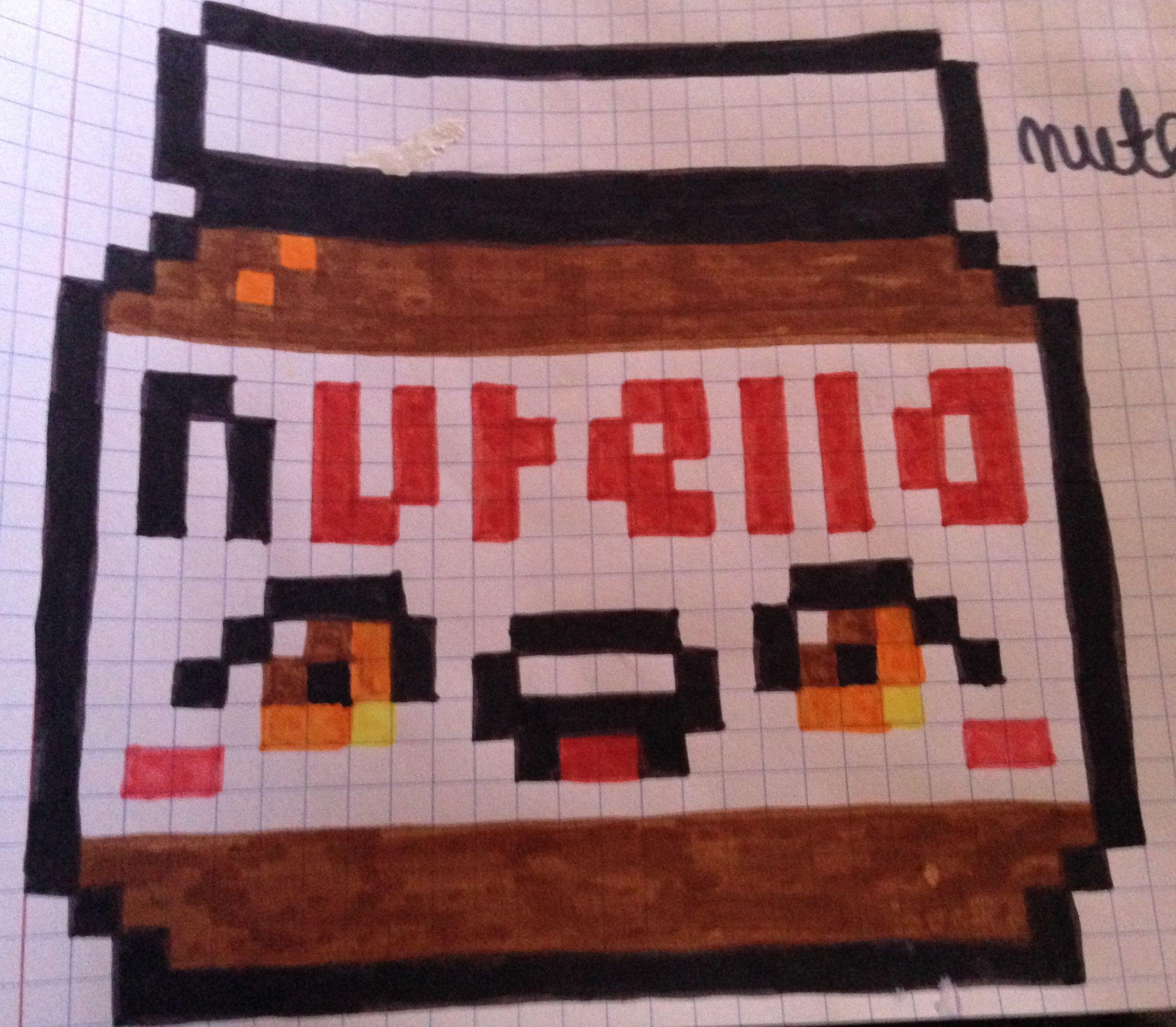 pixel art pot de nutella