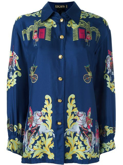 Escada Vintage 'Royal army' printed shirt