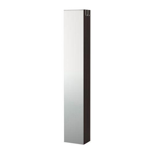 LILLÅNGEN Spejlskab - sortbrun - IKEA
