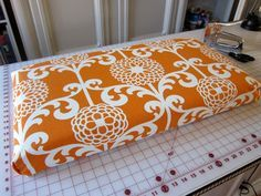 Diy Bench Cushion No Sew Could Make These For The Deck