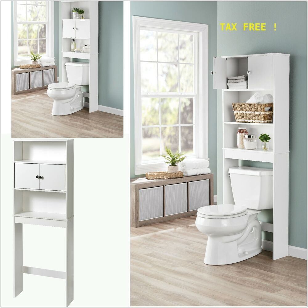 Over The Toilet Storage Organizer Wood Bathroom Space Saver Towel Rack Cabinet Mainstays Toilet Storage Bathroom Space Saver Storage