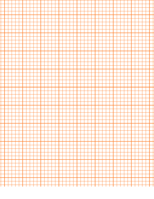 printable graph paper orange