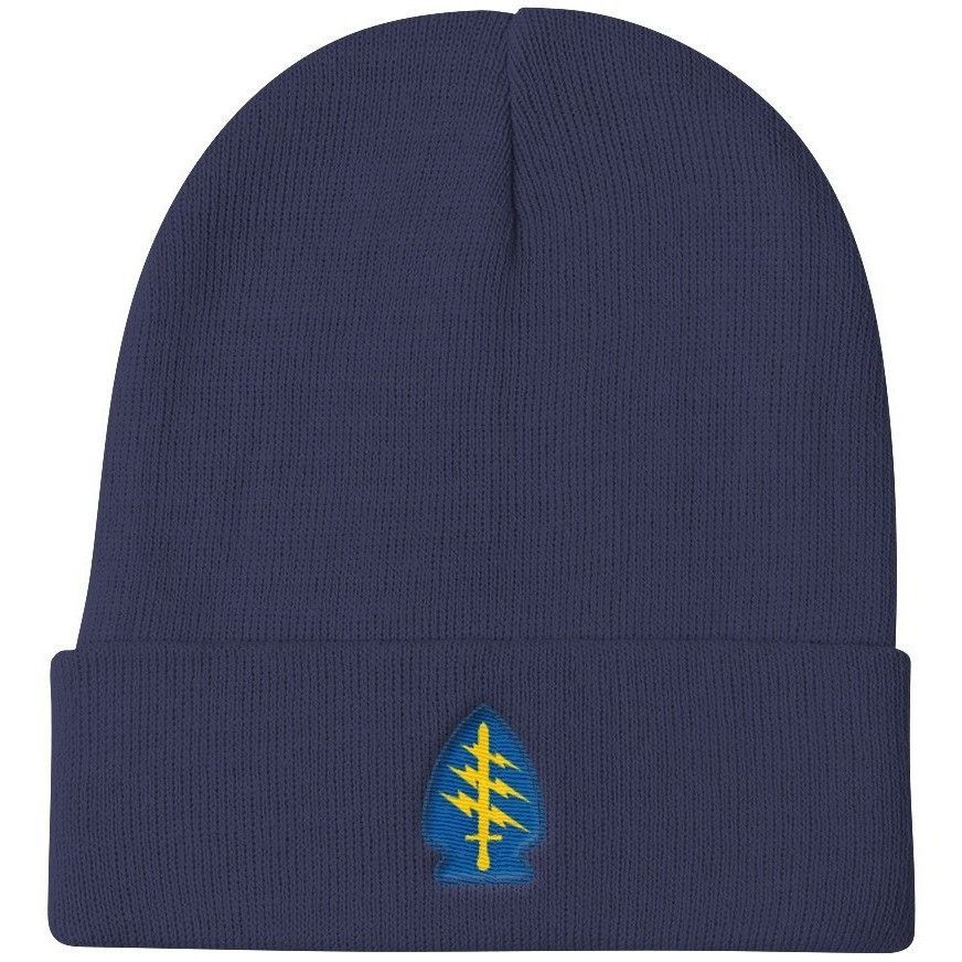 d025b187c3f Embroidered Special Forces Patch Knit Beanie