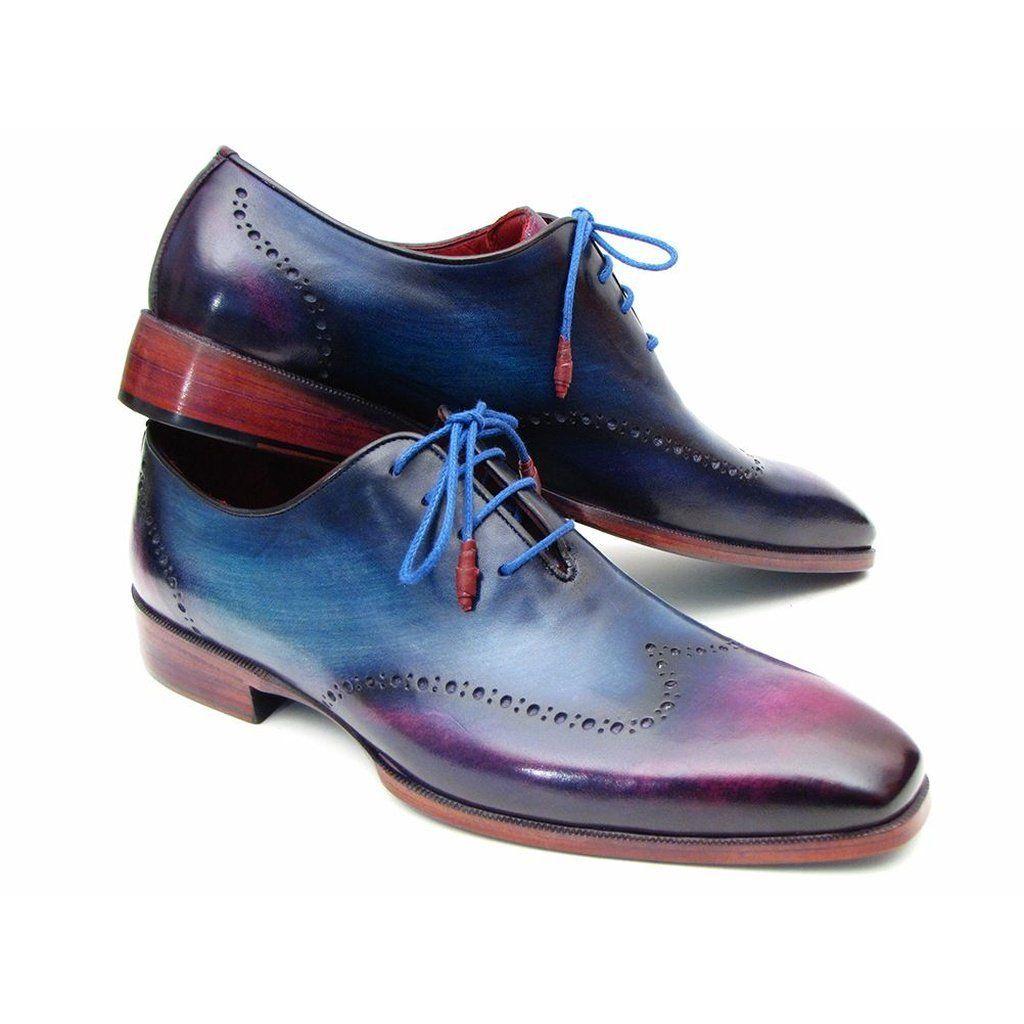 Purple dress with shoes  Paul Parkman Menus Blue u Purple Wingtip Oxfords IDVX