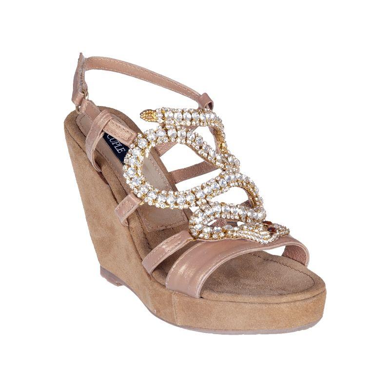 Sandalia cuña serpiente - Cuñas - Zapatos - Tiendacuple.com