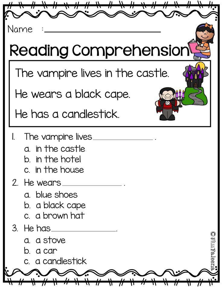 October Reading Comprehension – Comprehension Worksheets Kindergarten