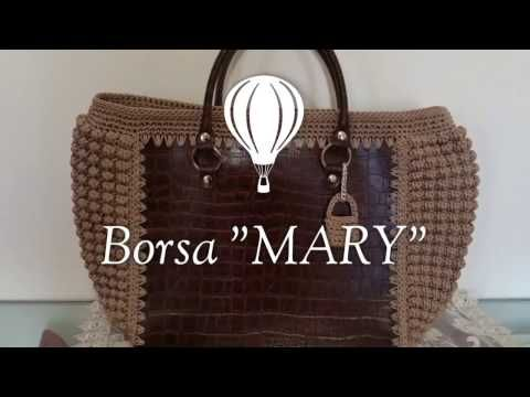 Borsa Sefora  cordino e pannello traforato uncinetto crochet bag tutorial  Uncinetto - YouTube d55d282676a