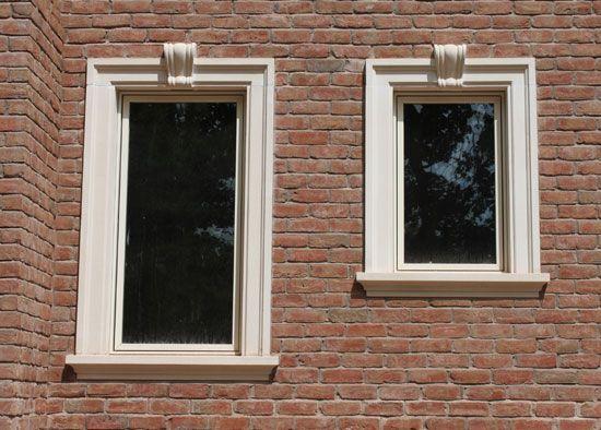 Cast Stone Window Door Surrounds058 Jpg 550 394 Stone Exterior Houses Exterior Window Molding Windows Exterior