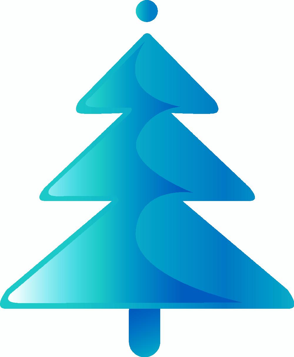 Arboles De Navidad En Color Azul Symbols