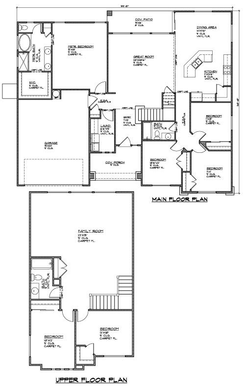 3000 Sq Ft 6 Bed 3 Bath And 2 Car Garage Floorplan Encehomes Newhome New Homes For Sale Square House Plans Farmhouse Plans