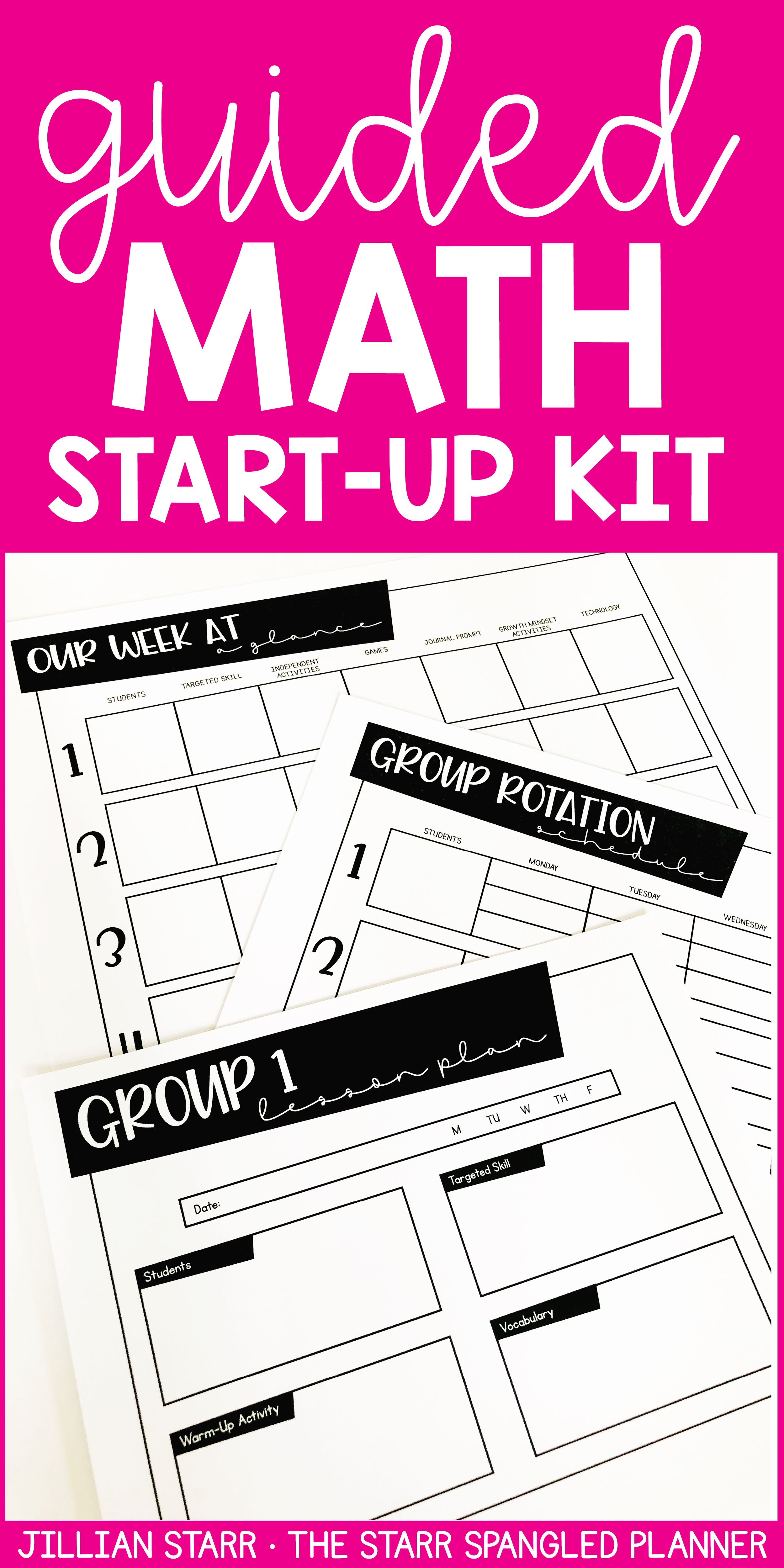 Math Center Start Up Kit For Guided Math Workshop In 2018 Favorite