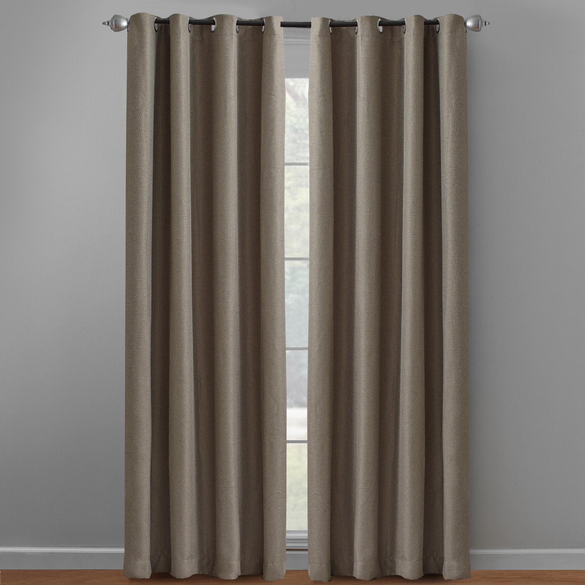 Dark Tan Eclipse Westbury Energy Saving Blackout Curtains Set Of 2 Living Room Redesign Curtains House Design