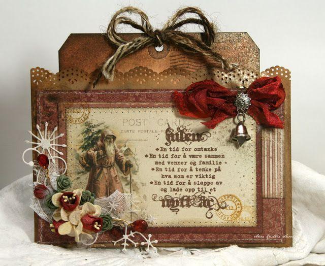 Vintage looking Christmas tag, pic 1
