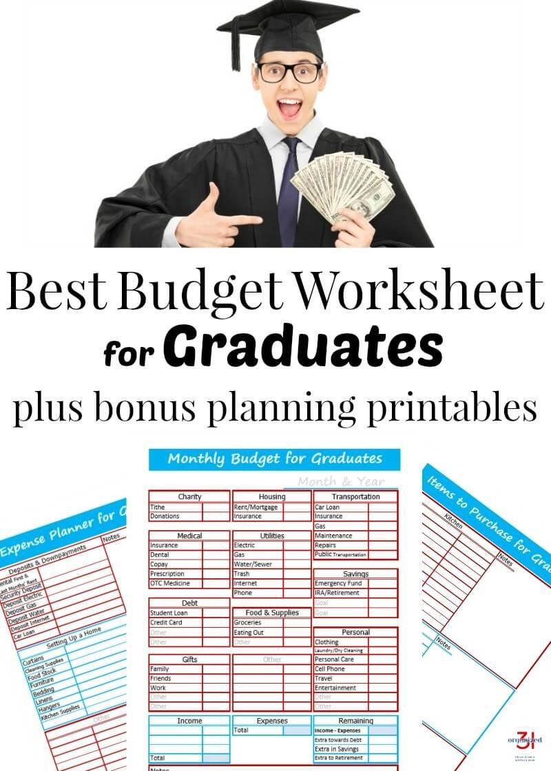 Best Budget Worksheet For Graduates Organized 31 Budgeting Worksheets Dave Ramsey Budgeting Dave Ramsey Budgeting Printables