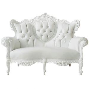 Baroque Loveseat White decor Pinterest