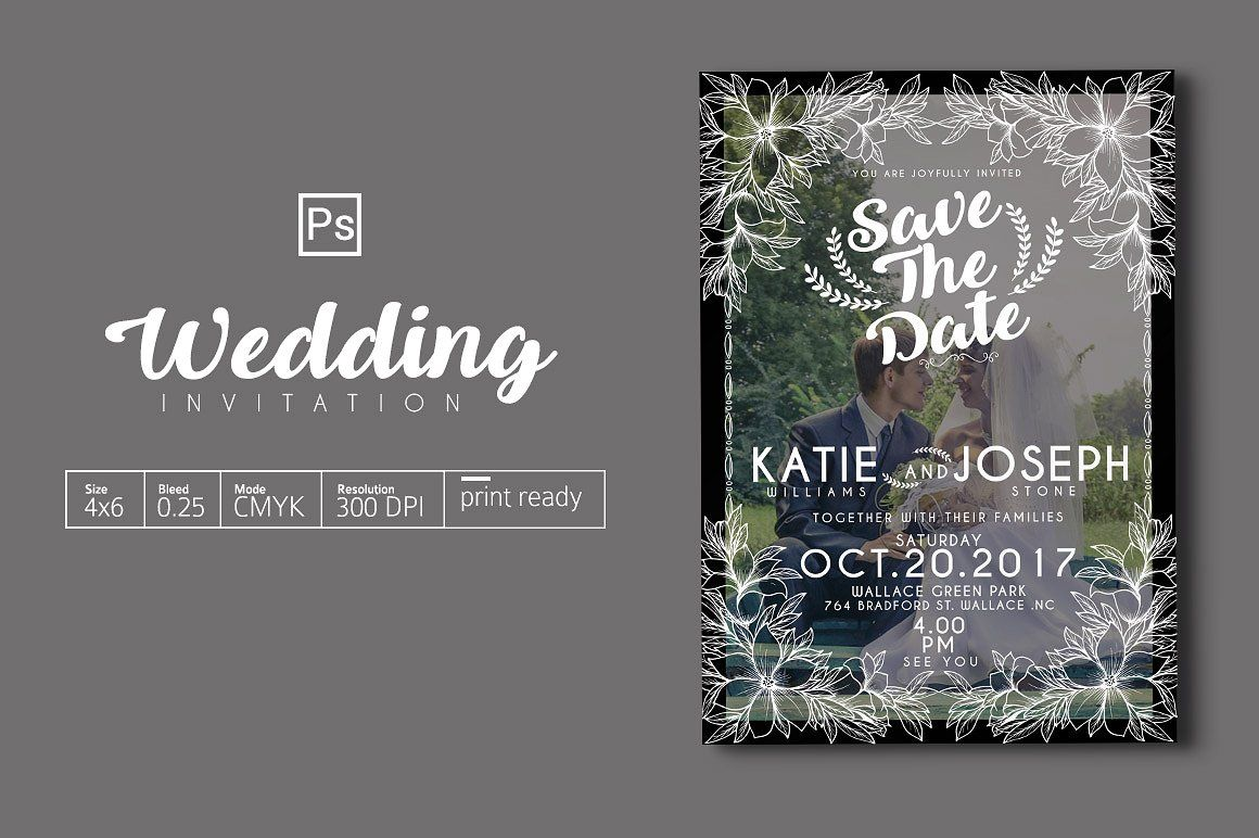 Wedding Invitation by Tiaga on @creativemarket | Wedding ceremonies ...