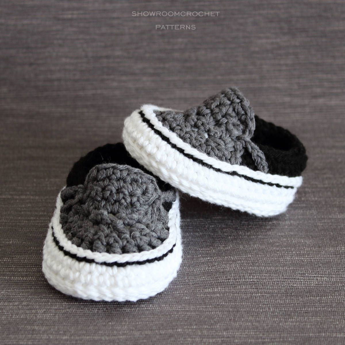 Crochet PATTERN. Vans style baby sneakers. Instant Download en 2018 ...