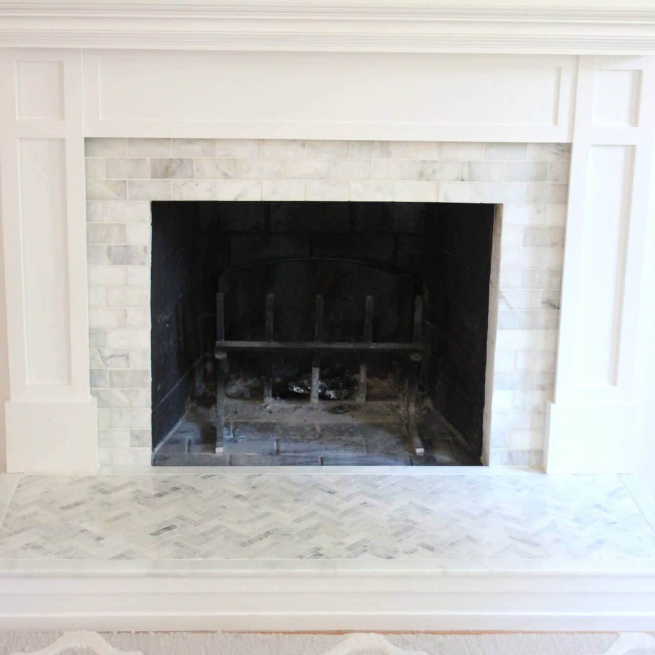 How To Tile Over A Brick Fireplace Surround Fireplace Facade
