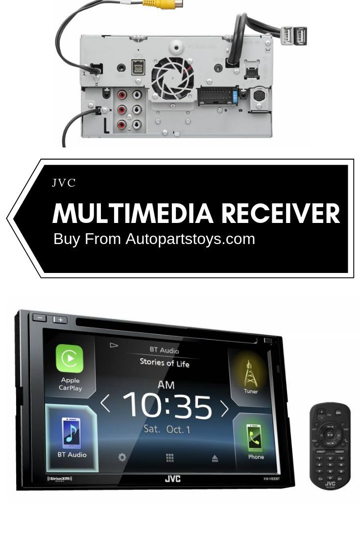"""JVC Multimedia Receiver Featuring 6.8"""" Clear Resistive"""