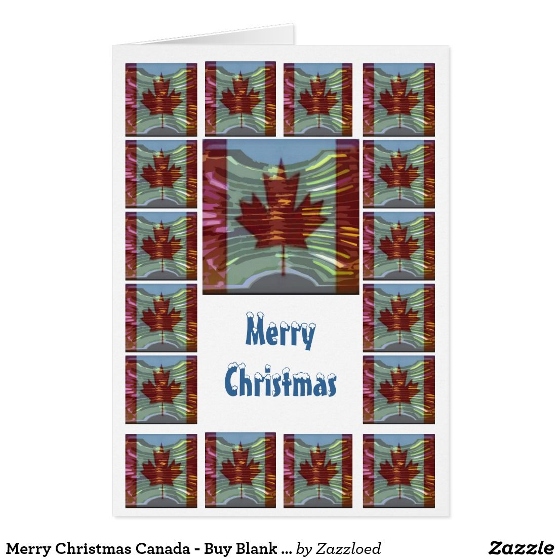 Merry Christmas Canada Buy Blank Or Add Greeting Card Merry
