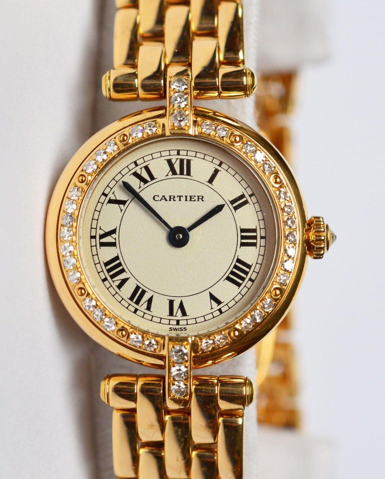 Original Cartier Panthere Vendome Figaro Diamanten 18