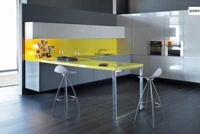 Yellow Living Decoration Apartment
