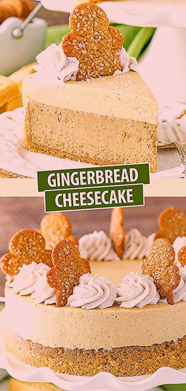 Photo of Gingerbread Cheesecake Recipe With Shortbread Crust   Holiday Dessert